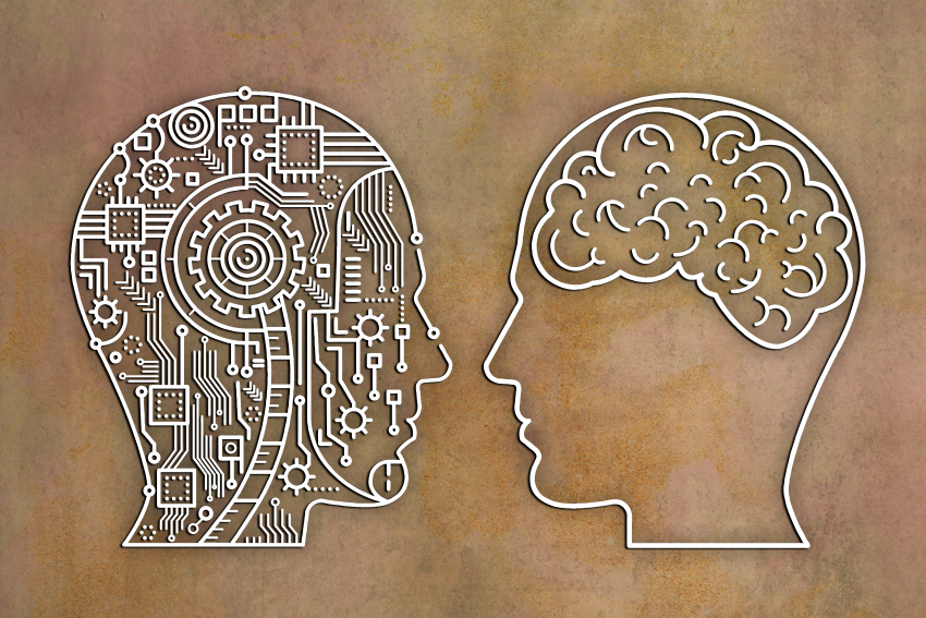 Human & mechanical brains face to face