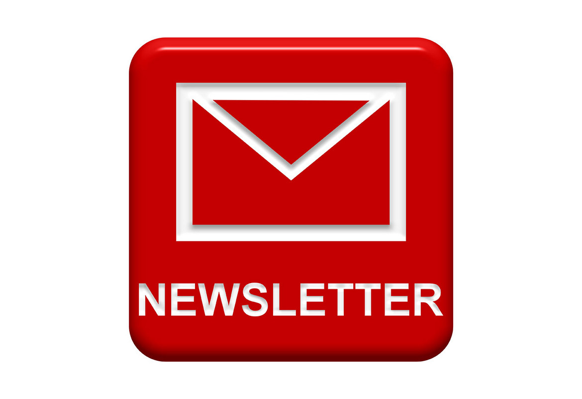 Newsletter button with enverlope symbol